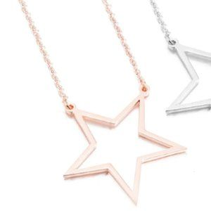 Stars Hollow Necklace - Rose Gold